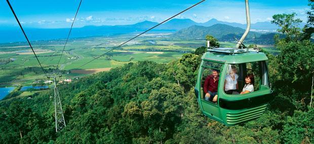 凯恩斯-库兰达-雨林-缆车-Skyrail-观光