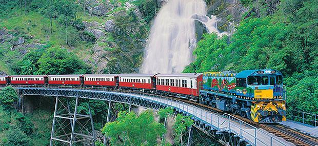 凯恩斯-瀑布-库兰达-雨林-观光-小火车