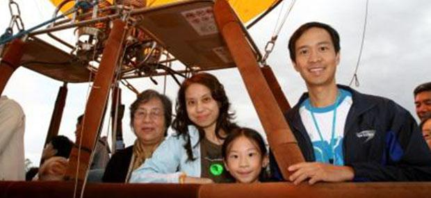 家庭-热气球-凯恩斯-库兰达-飞行