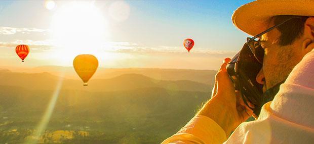 黄金海岸-热气球-清晨-第一-阳光