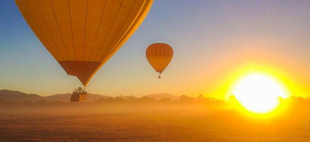 黄金海岸-热气球-清晨-朝阳