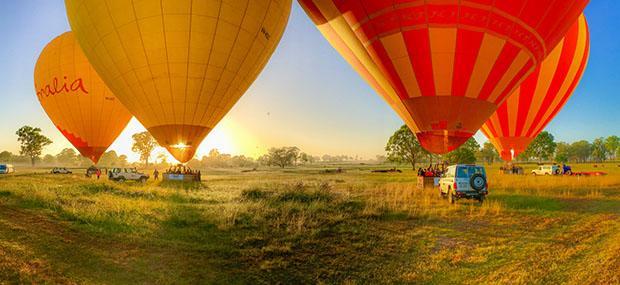 凯恩斯-热气球-日出-飞行