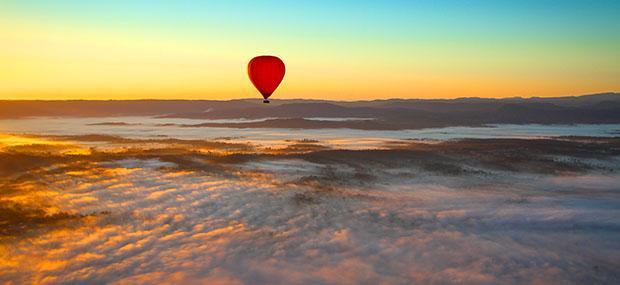 黄金海岸-飞行-清晨-热气球-晴朗