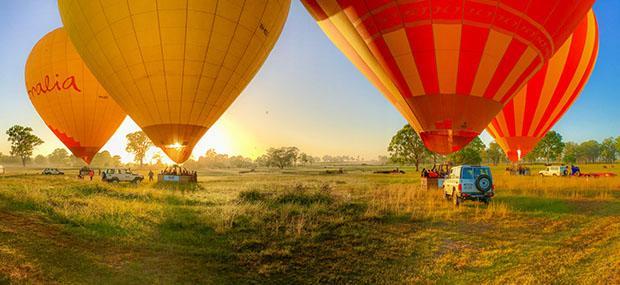 黄金海岸-热气球-清晨-朝阳-起飞